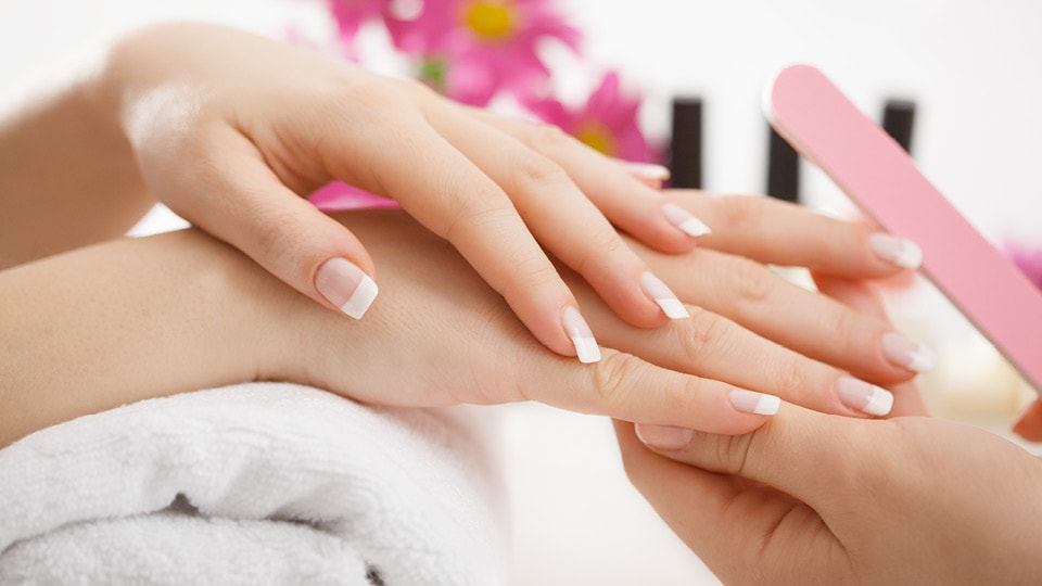 Professional manicure pedicure in a beauty salon in staffordshire