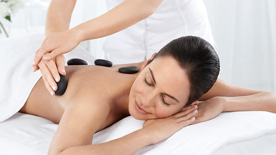 Relaxing massages with hot stone at our beauty salon in stoke-on-trent staffordshire